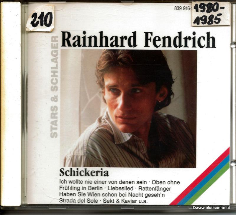 Rainhard Fendrich Schickeria CD