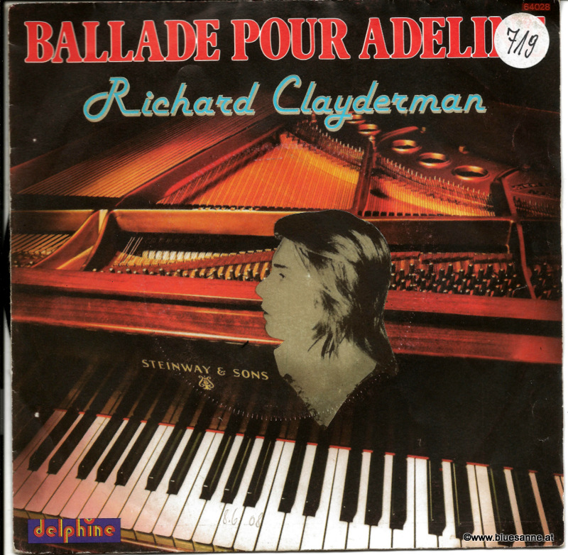Richard Clayderman ‎– Ballade Pour Adeline 1977 Single