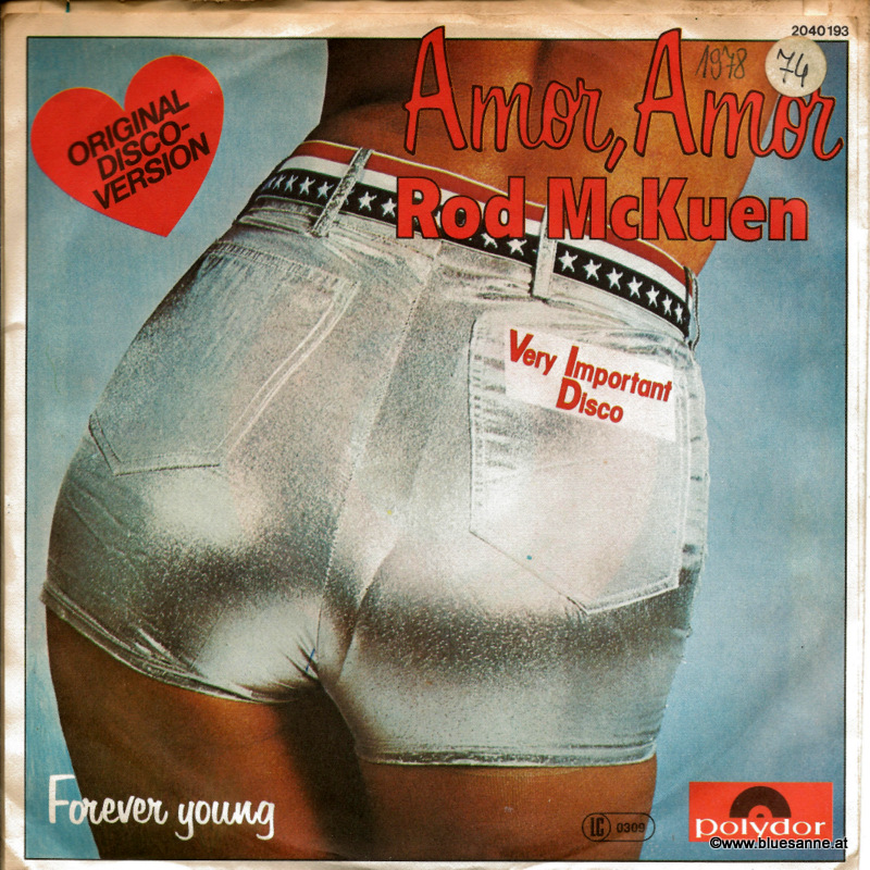 Rod McKuen ‎– Amor, Amor 1978 Single