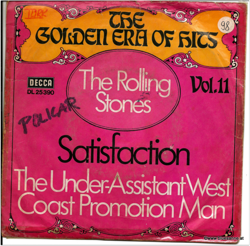 Rolling Stones Satisfaction 1965 Single