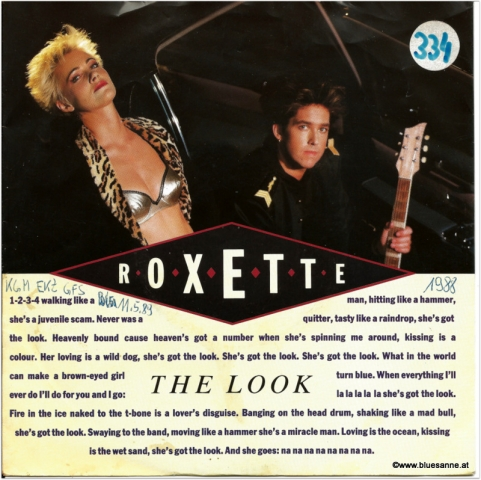 Roxette The Look 1988 Single