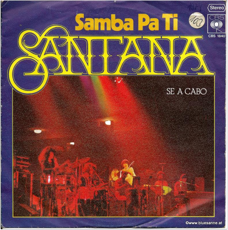 Santana Samba Pa Ti 1973 Single
