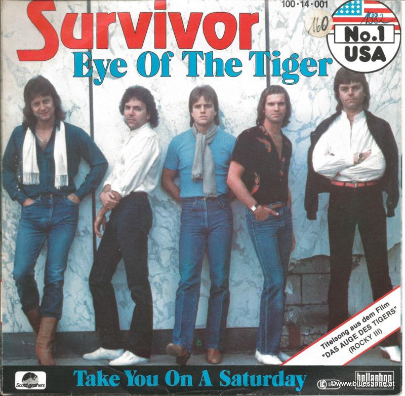 Survivor Eye of the Tiger 1982 Single