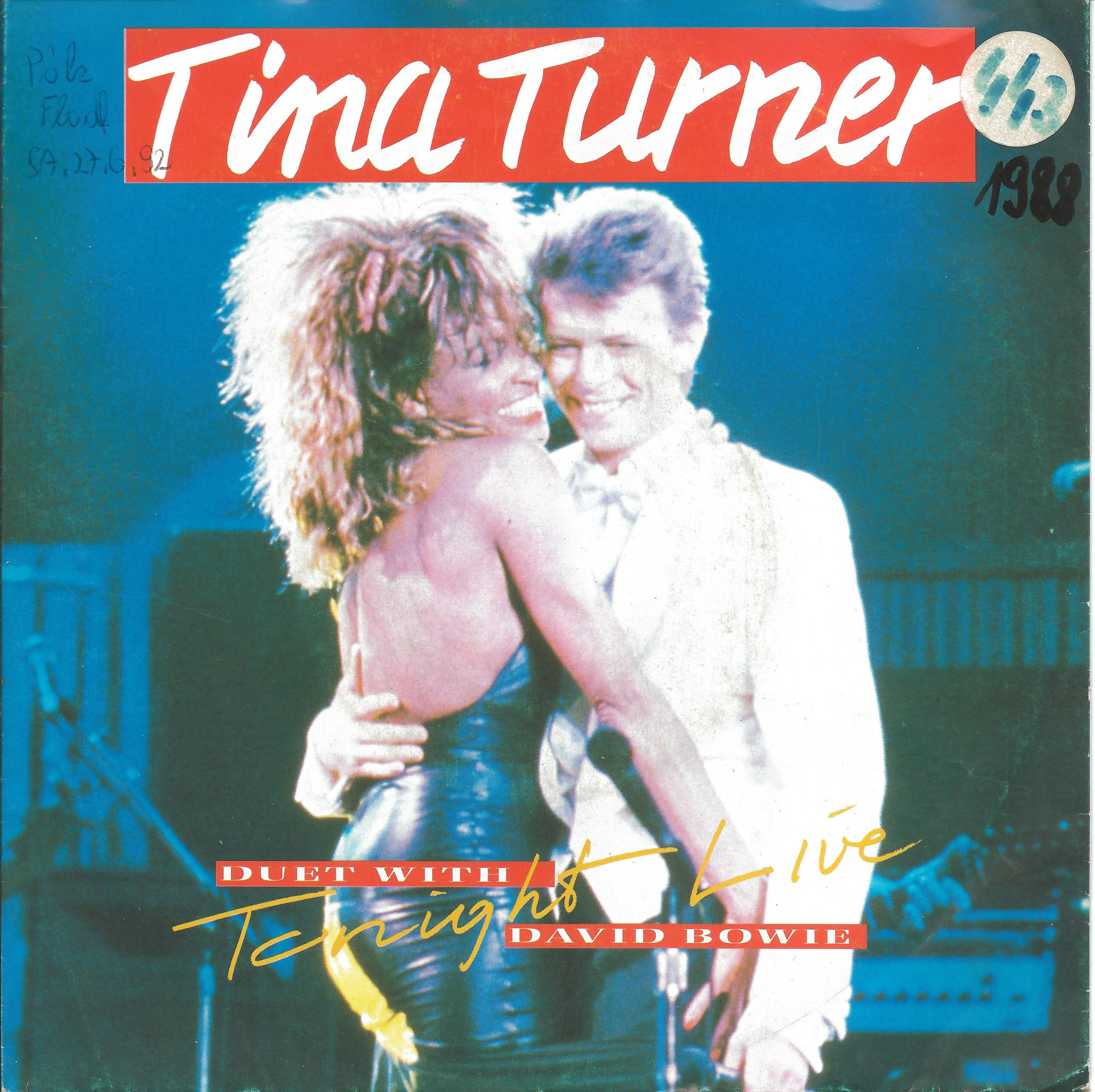 Tina Turner + David Bowie Tonight 1988 Single