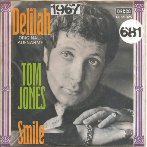 Tom Jones Delilah 1967 Single