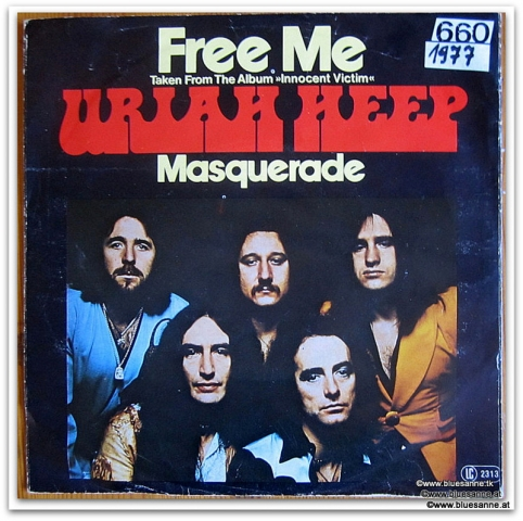 Uriah Heep Free me 1977 Single