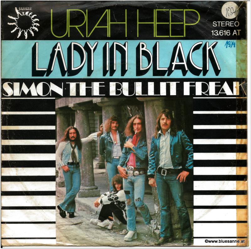 Uriah Heep Lady in Black 1970 Single