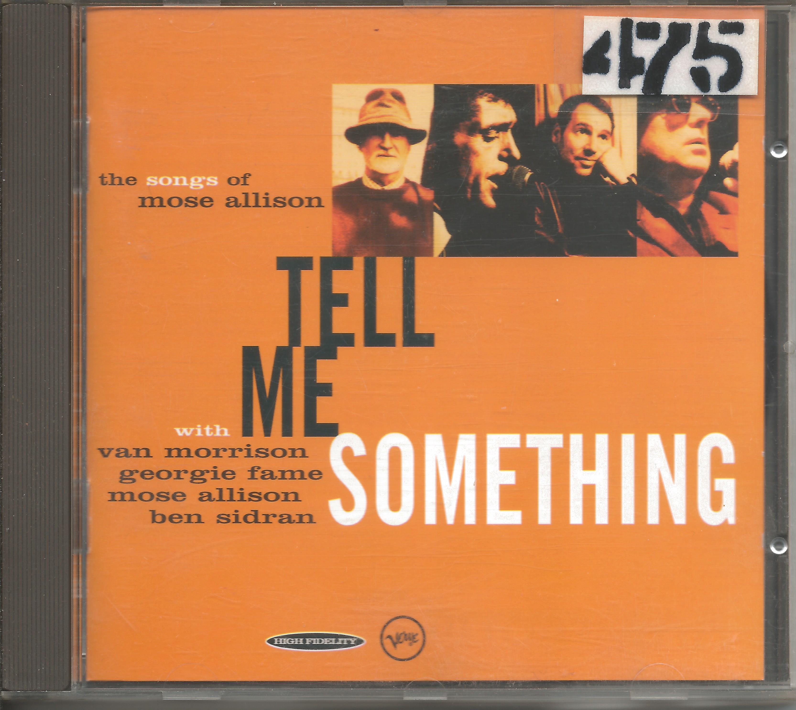 Van Morrison, Georgie Fame, Mose Allison, Ben Sidran – Tell Me Something (The Songs Of Mose Allison1996CD