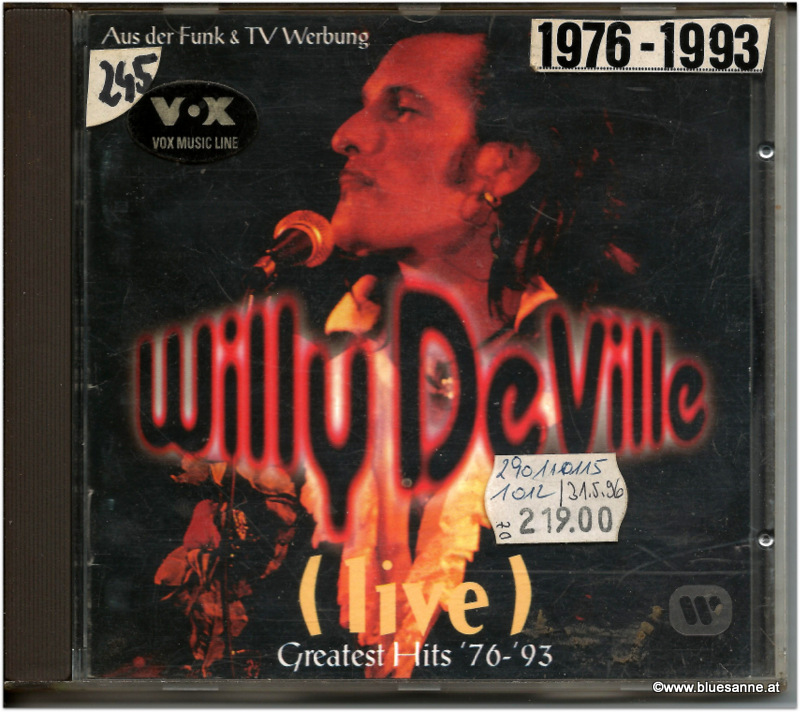 Willy DeVille Life Greatest Hits 76-93 CD