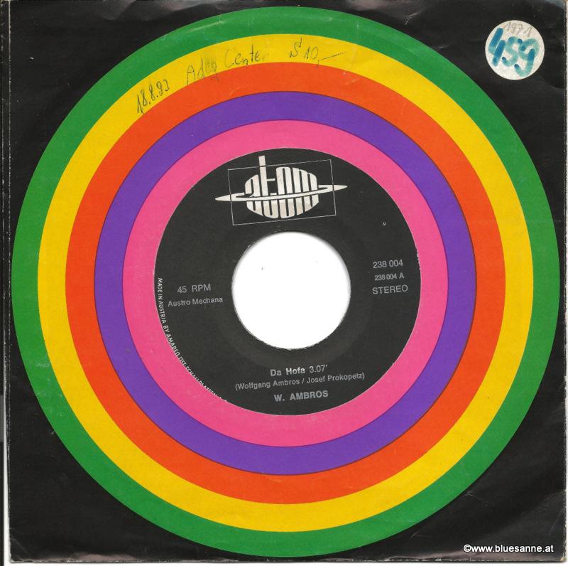 Wolfgang Ambros– Da Hofa - I bin allan 1971 Single