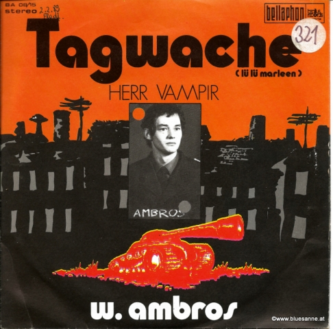 Wolfgang  Ambros ‎– Tagwache 1971 Single