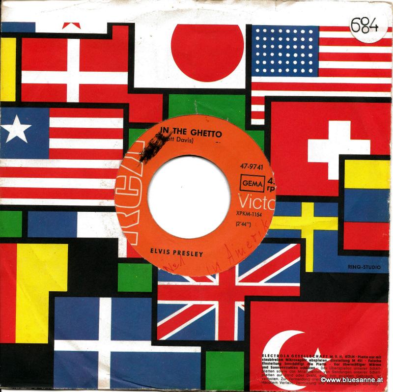 Elvis Presley In the Ghetto 1969 Single