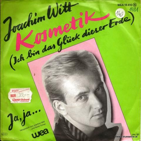 Joachim Witt Kosmetik 1991 Single