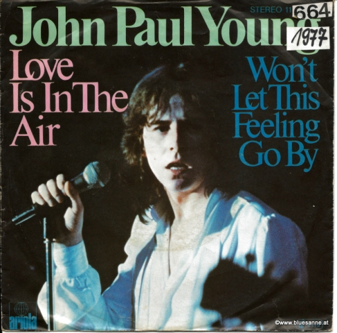John Paul Young Love is in the air 1977 Single