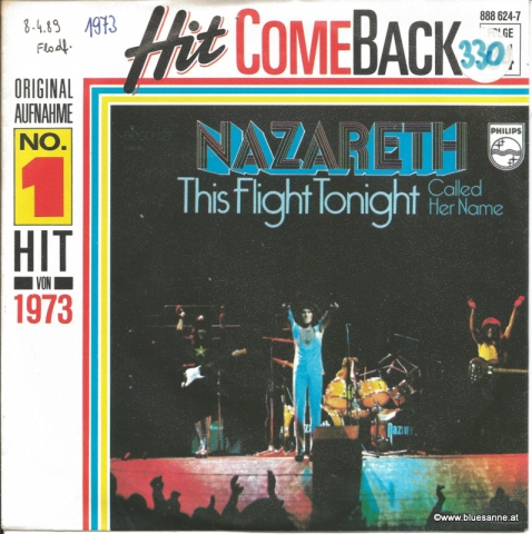Nazareth This flight tonight 1973 Single