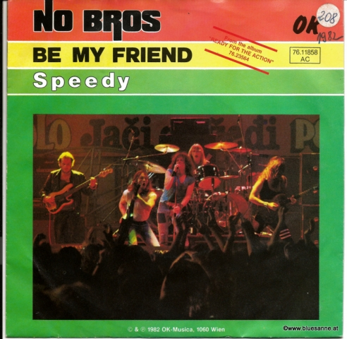 No Bros Be my friend 1982 Single