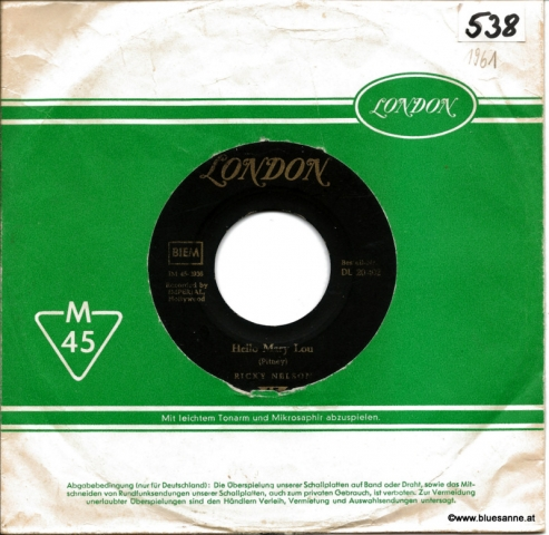 Ricky Nelson  – Hello Mary Lou 1961