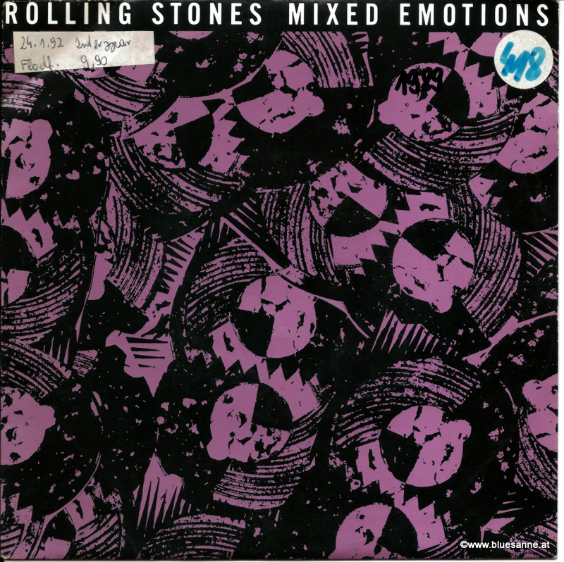 Rolling Stones Mixed Emotions 1989 Single
