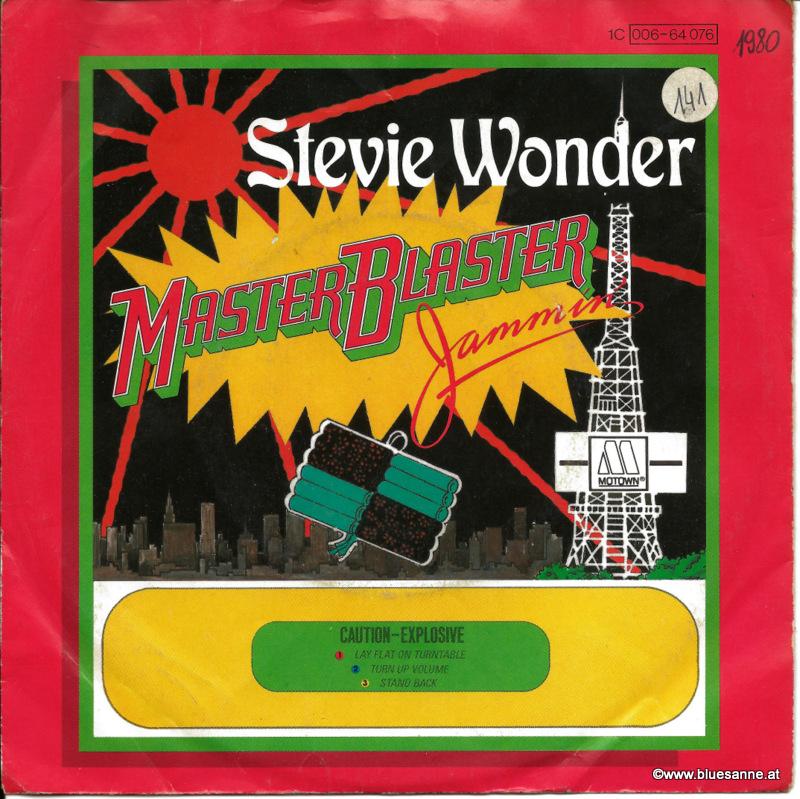 Stevie Wonder Master Blaster 1980 Single