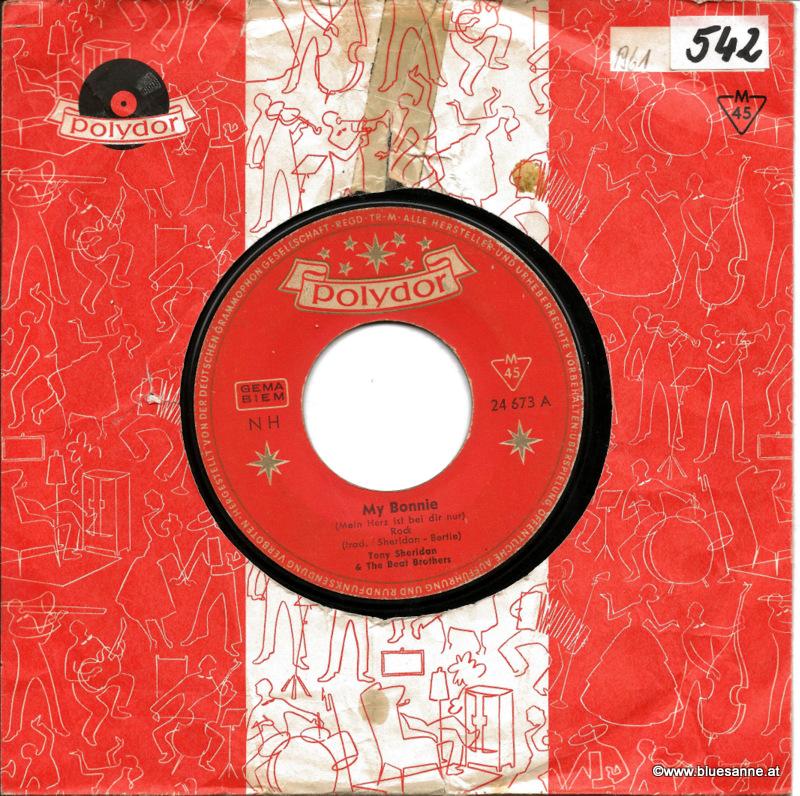 Tony Sheridan My Bonnie 1961 Single