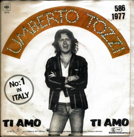 Umberto Tozzi Ti Amo 1977 Single