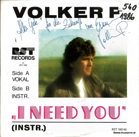 Volker P. ‎– I Need You 1986